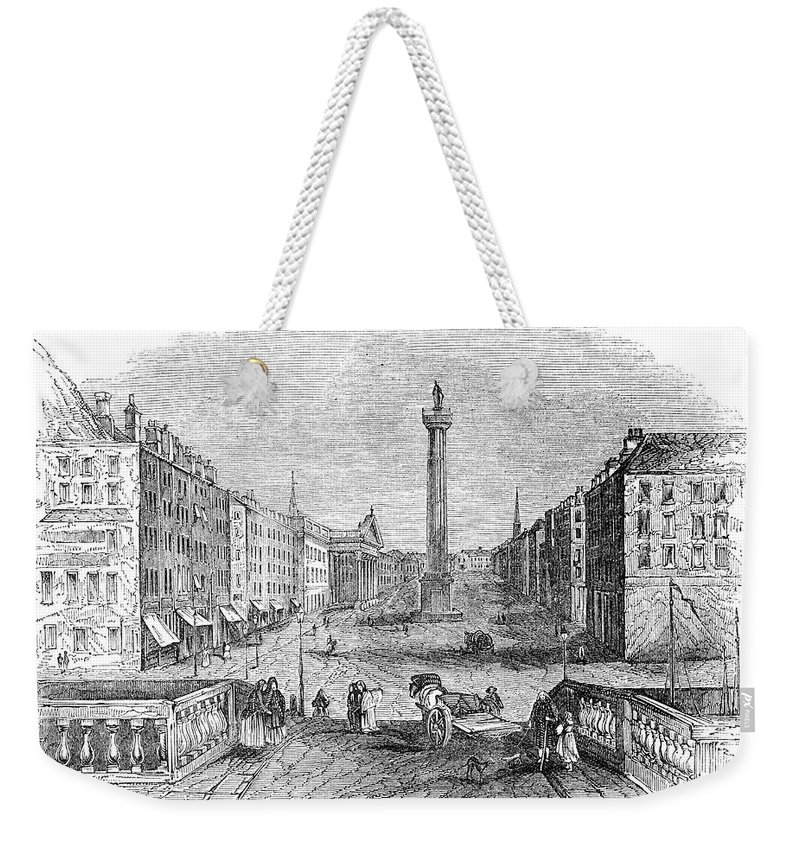 1843 Weekender Tote Bag featuring the photograph Ireland: Dublin, 1843 by Granger