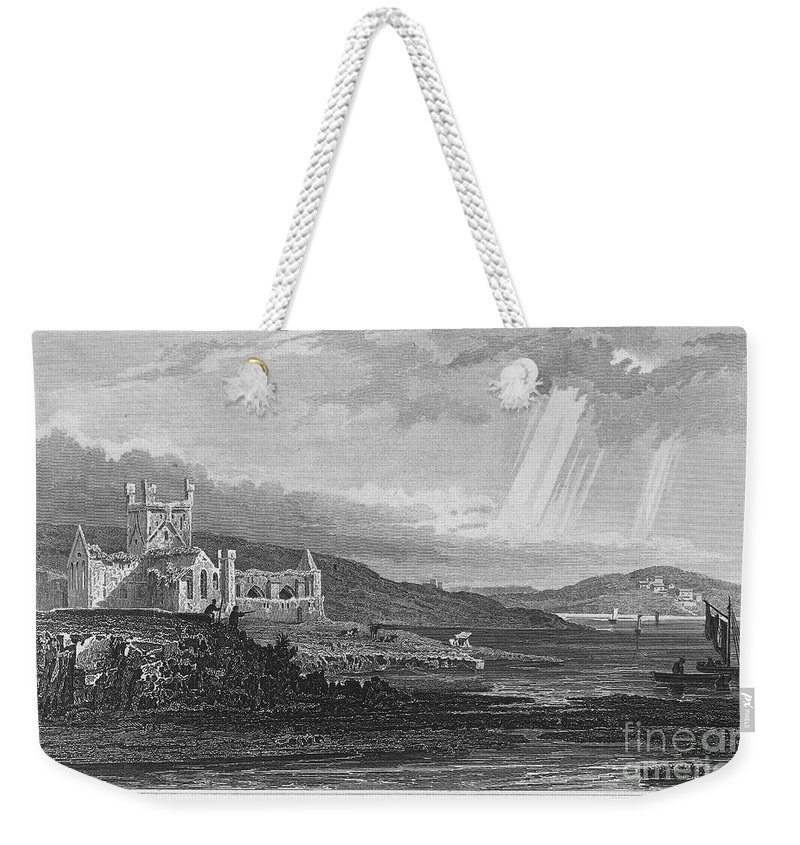 13th Century Weekender Tote Bag featuring the photograph Ireland: Dunbrody Abbey by Granger