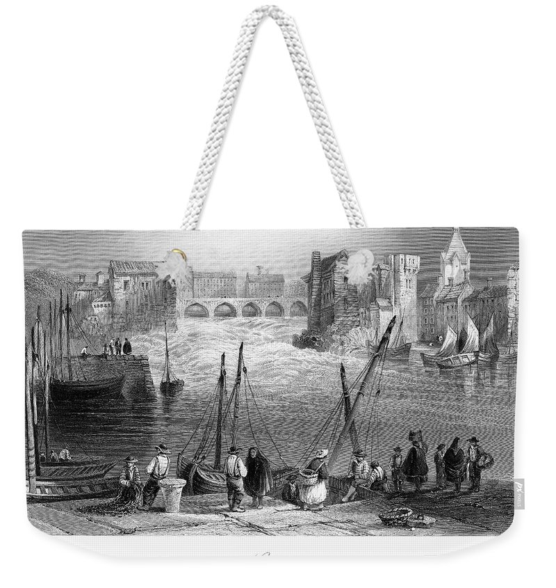 1840 Weekender Tote Bag featuring the photograph Ireland: Galway, C1840 by Granger