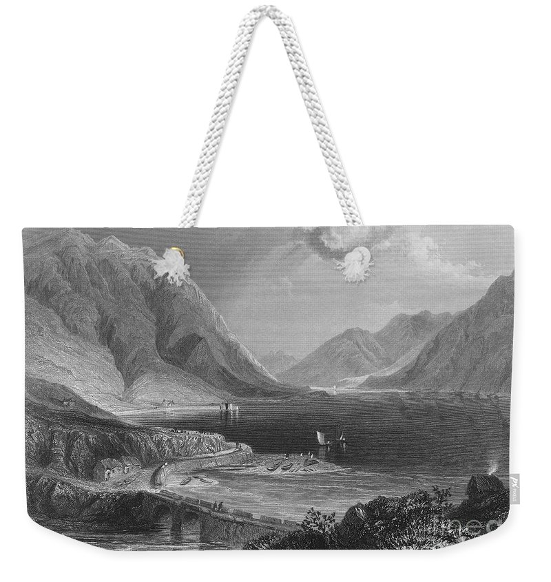 1840 Weekender Tote Bag featuring the photograph Ireland: Leenane, C1840 by Granger