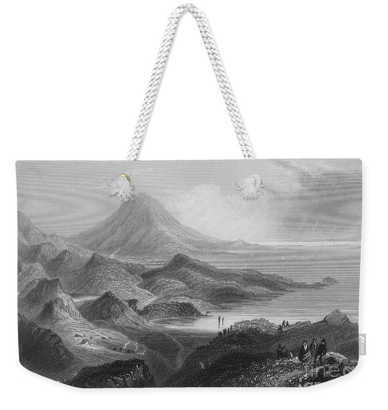 1840 Weekender Tote Bag featuring the photograph Ireland: Lough Conn, C1840 by Granger