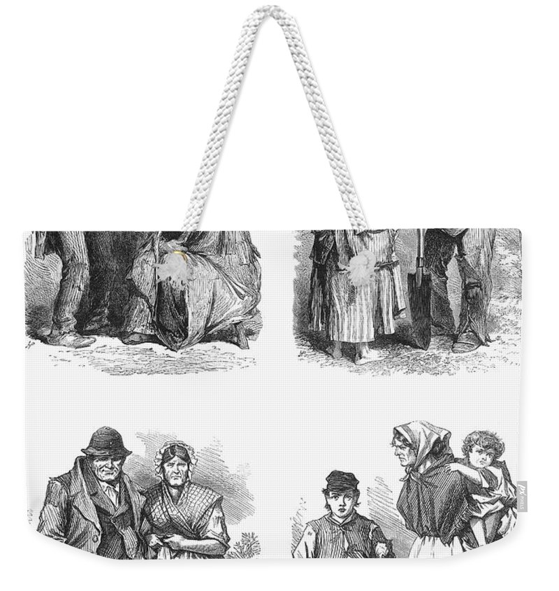 1870 Weekender Tote Bag featuring the photograph Ireland: Tenant Farmers by Granger