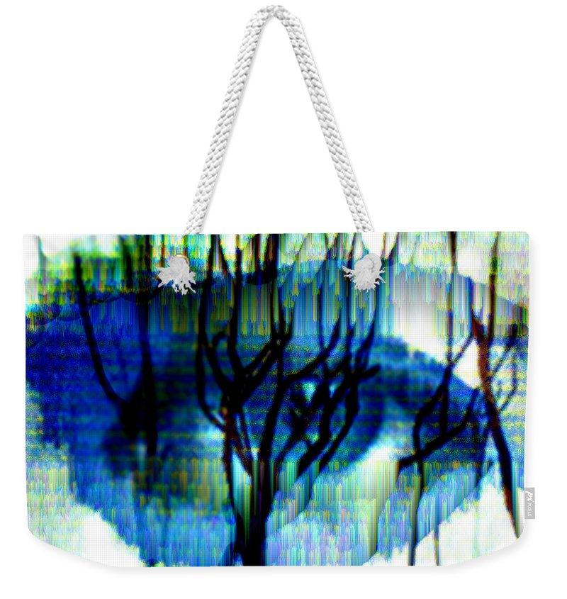 Iris Weekender Tote Bag featuring the digital art Iris by Seth Weaver