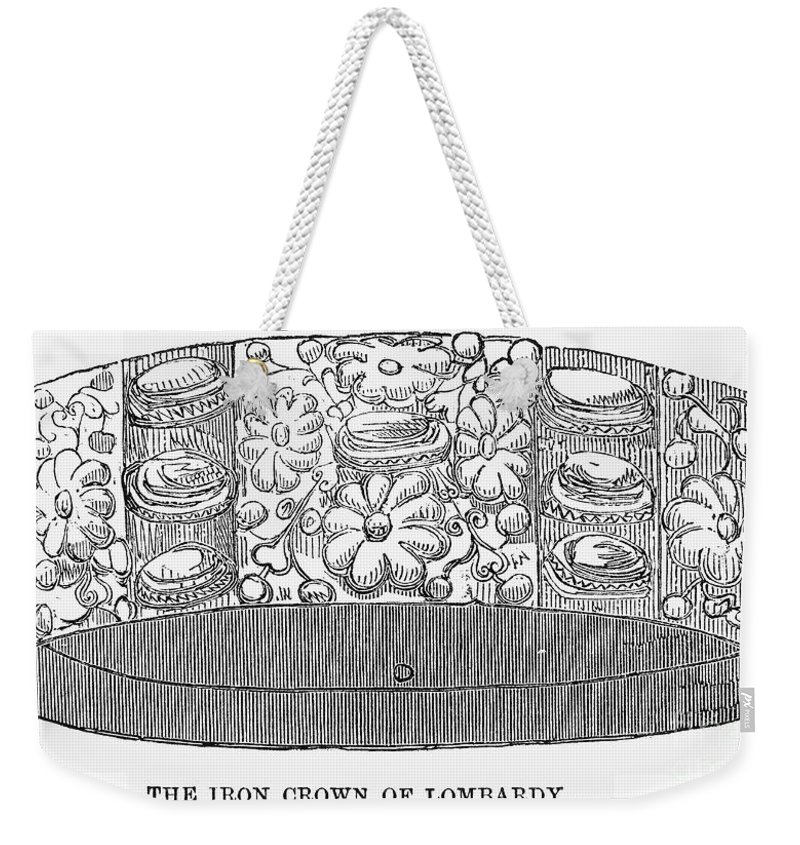 1859 Weekender Tote Bag featuring the photograph Iron Crown Of Lombardy by Granger