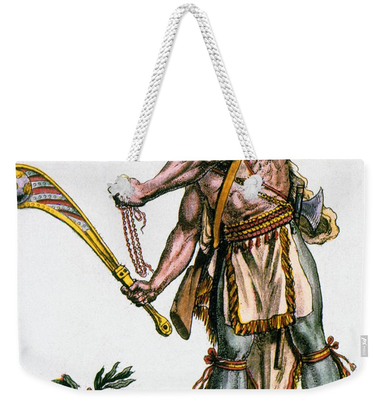 1787 Weekender Tote Bag featuring the photograph Iroquois Warrior by Granger