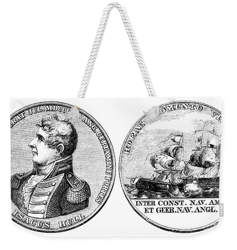 1812 Weekender Tote Bag featuring the photograph Isaac Hull: Medal by Granger