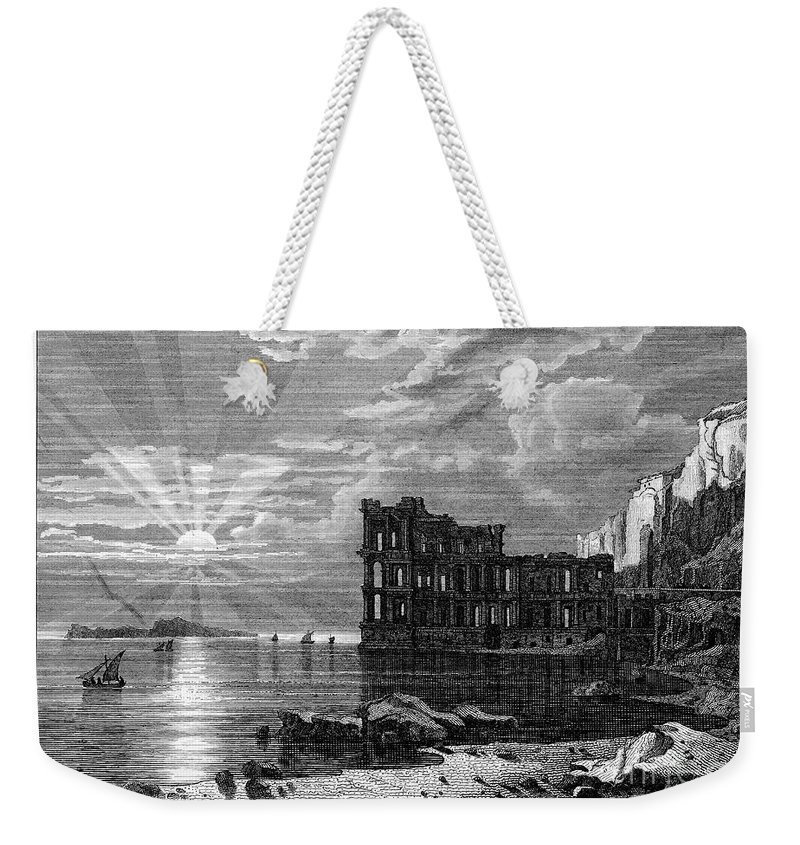 19th Century Weekender Tote Bag featuring the photograph Italy: Palace Ruins by Granger
