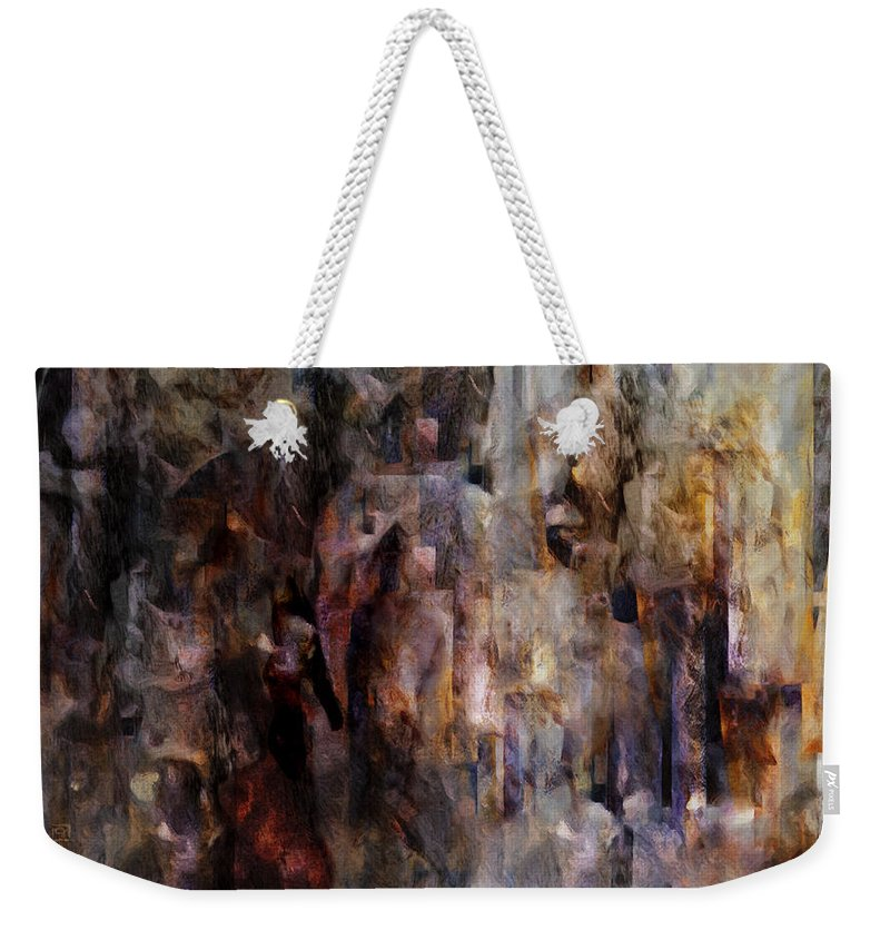 Its Complicated Weekender Tote Bag featuring the painting Its Complicated by Jean Moore