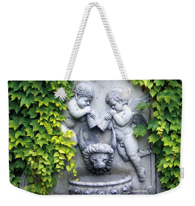 Ivy Weekender Tote Bag featuring the photograph Ivy Cherubs by Mike Nellums