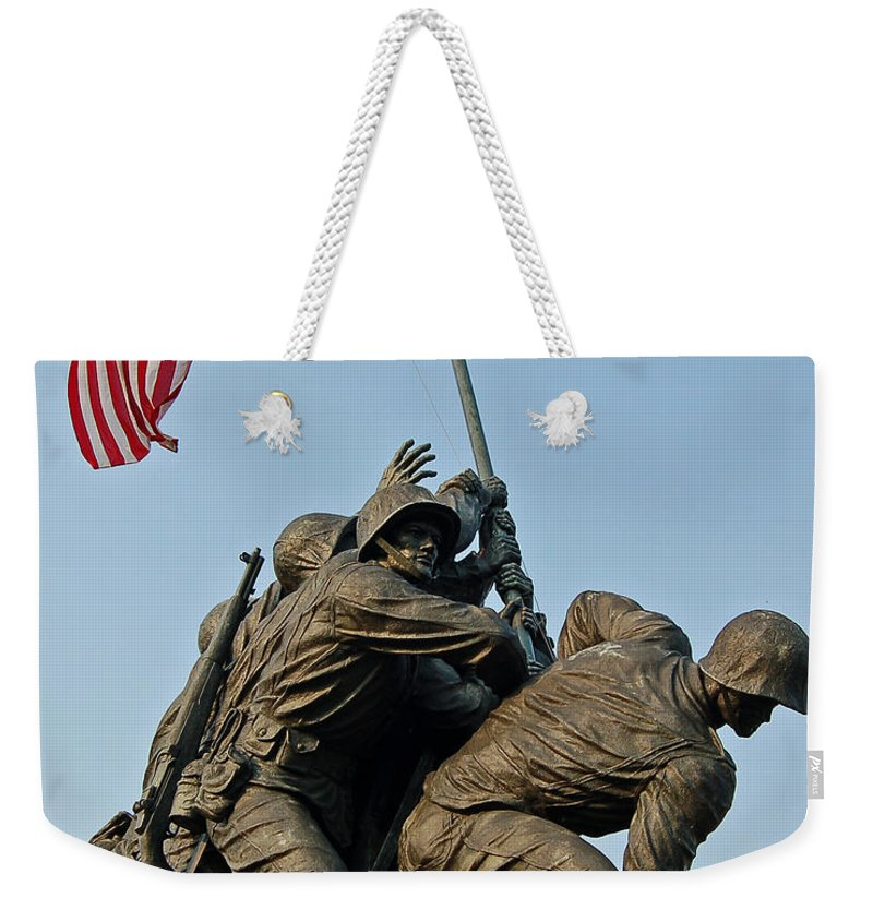 Iwo Weekender Tote Bag featuring the photograph Iwo Jima Memoria 2 by Stephen Whalen