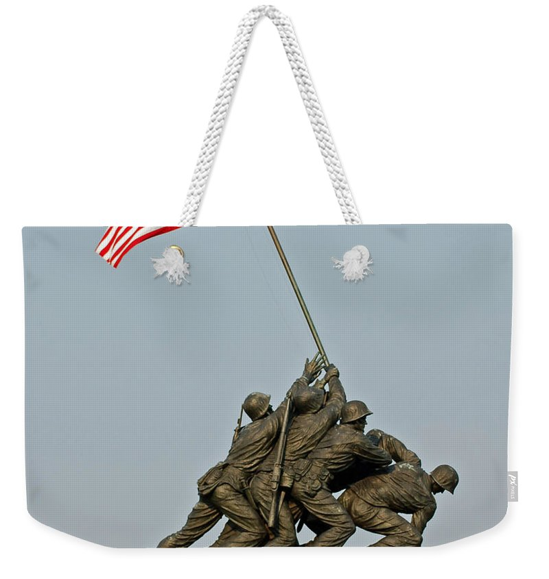 Iwo Weekender Tote Bag featuring the photograph Iwo Jima Memorial by Stephen Whalen