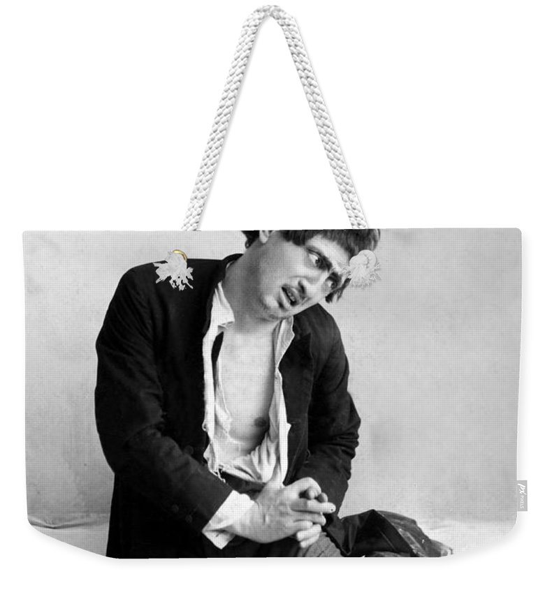 19th Century Weekender Tote Bag featuring the photograph Jacob Adler (1855-1926) by Granger