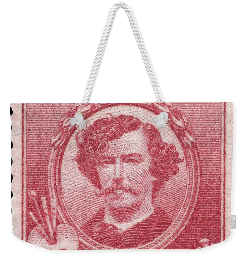 1940 Weekender Tote Bag featuring the photograph James A. Mcneill Whistler by Granger
