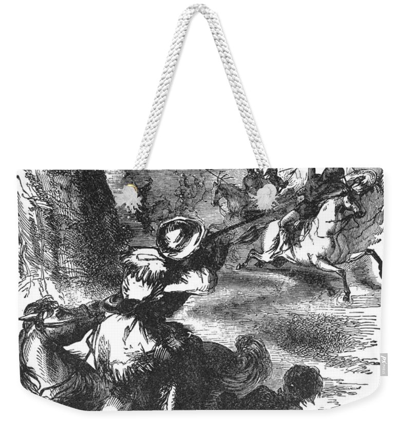 1831 Weekender Tote Bag featuring the photograph James Bowie (1796-1836) by Granger