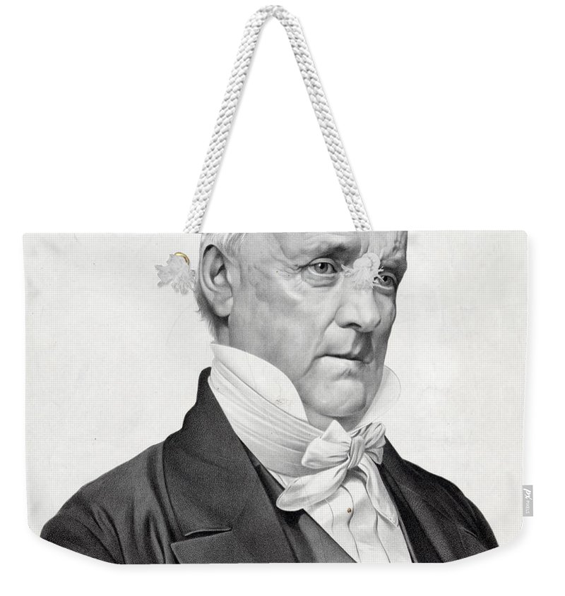 james Buchanan Weekender Tote Bag featuring the photograph James Buchanan by International Images