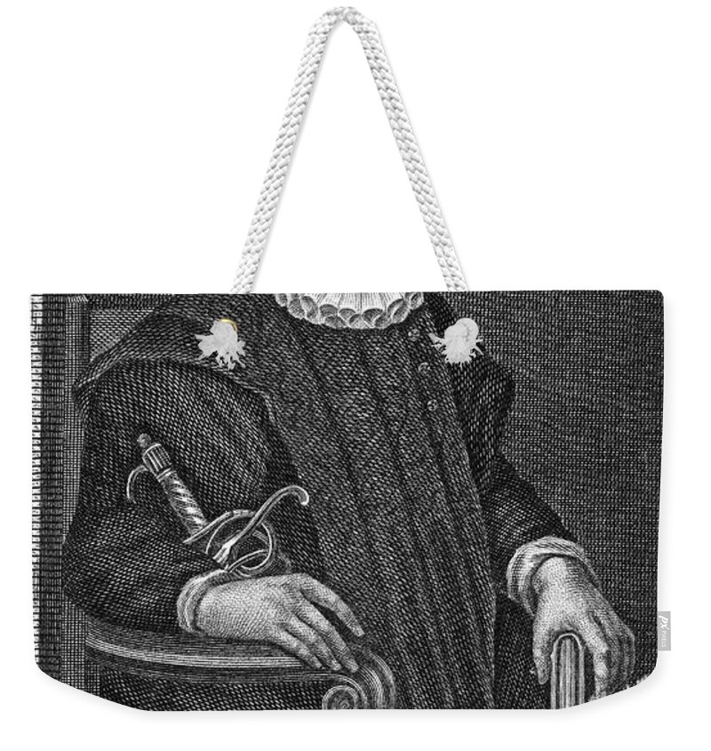 16th Century Weekender Tote Bag featuring the photograph James Crichton (1560-1582) by Granger