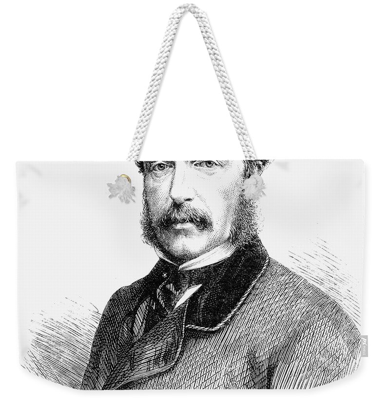 1865 Weekender Tote Bag featuring the photograph James Molyneux Caulfeild by Granger