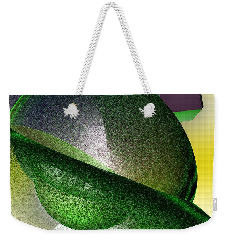 First Star Art Weekender Tote Bag featuring the digital art jammer Quantum View by First Star Art