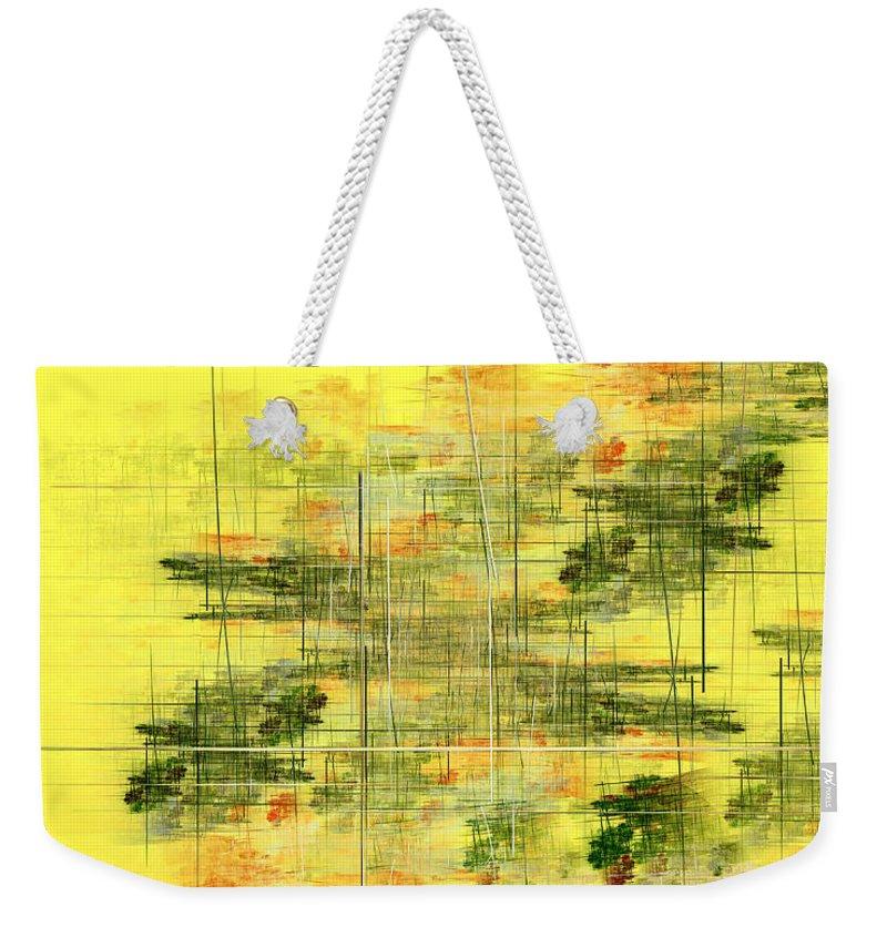 Fractal Weekender Tote Bag featuring the digital art Serene Scene I by Richard Ortolano