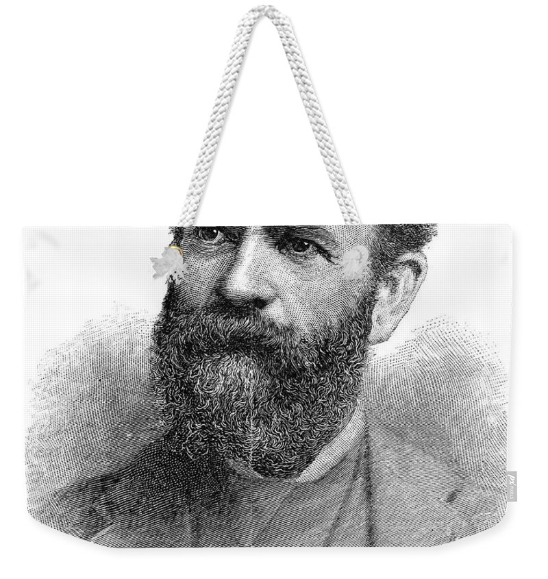 1890 Weekender Tote Bag featuring the photograph Jay Gould (1836-1892) by Granger