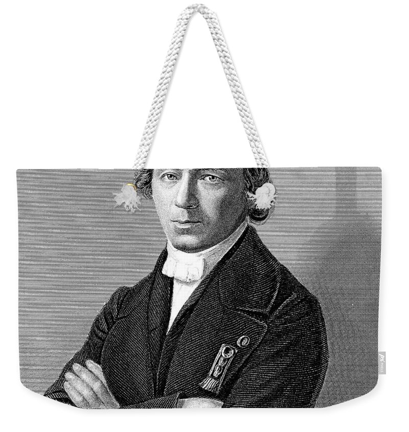 19th Century Weekender Tote Bag featuring the photograph Jean Baptiste Andr� Dumas by Granger