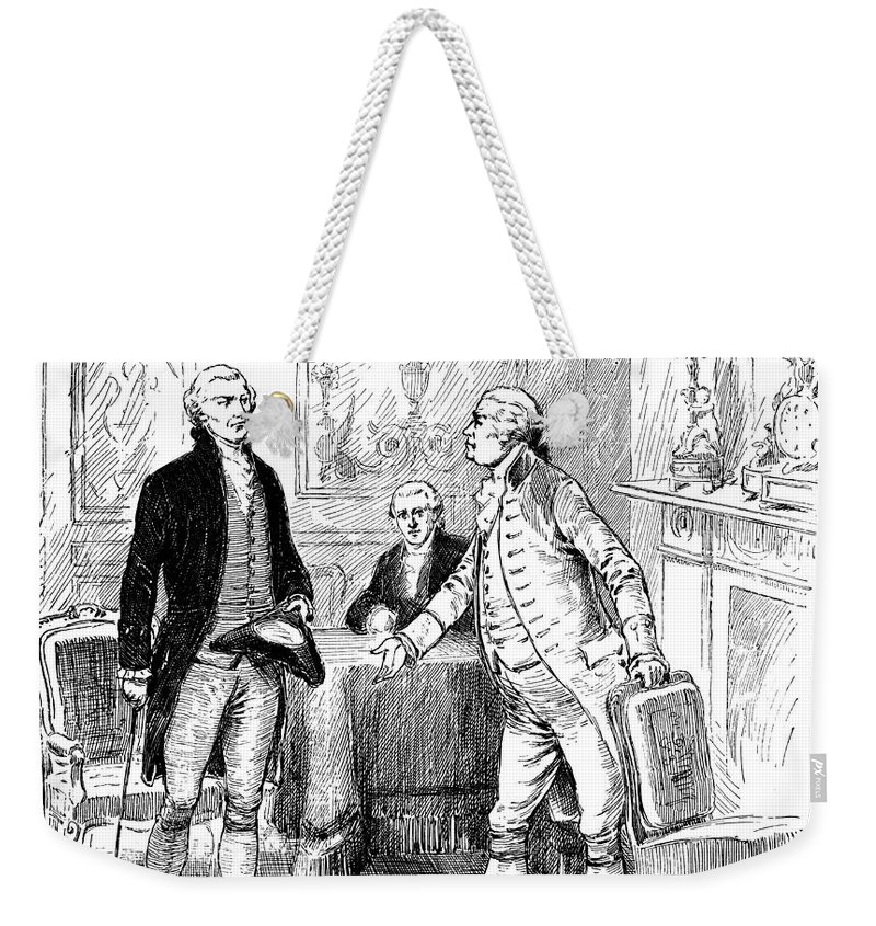 1793 Weekender Tote Bag featuring the photograph Jefferson & Genet, 1793 by Granger