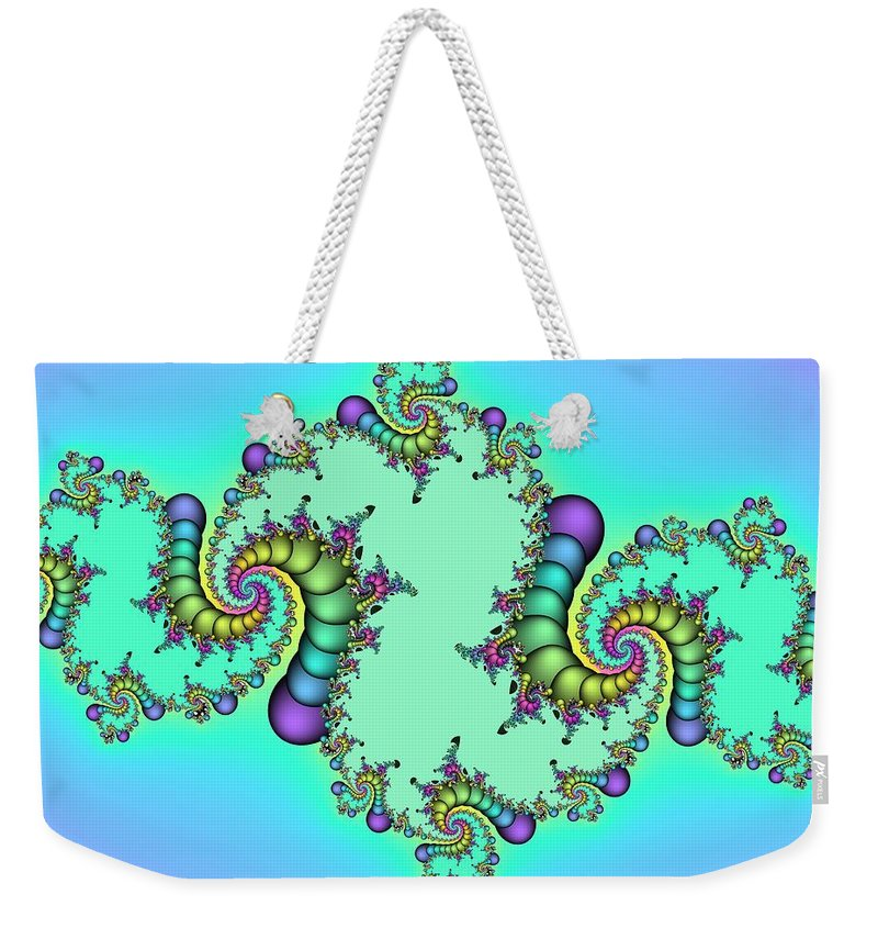 Jewel Of Life Weekender Tote Bag featuring the digital art Jewel Of Life by Christy Leigh