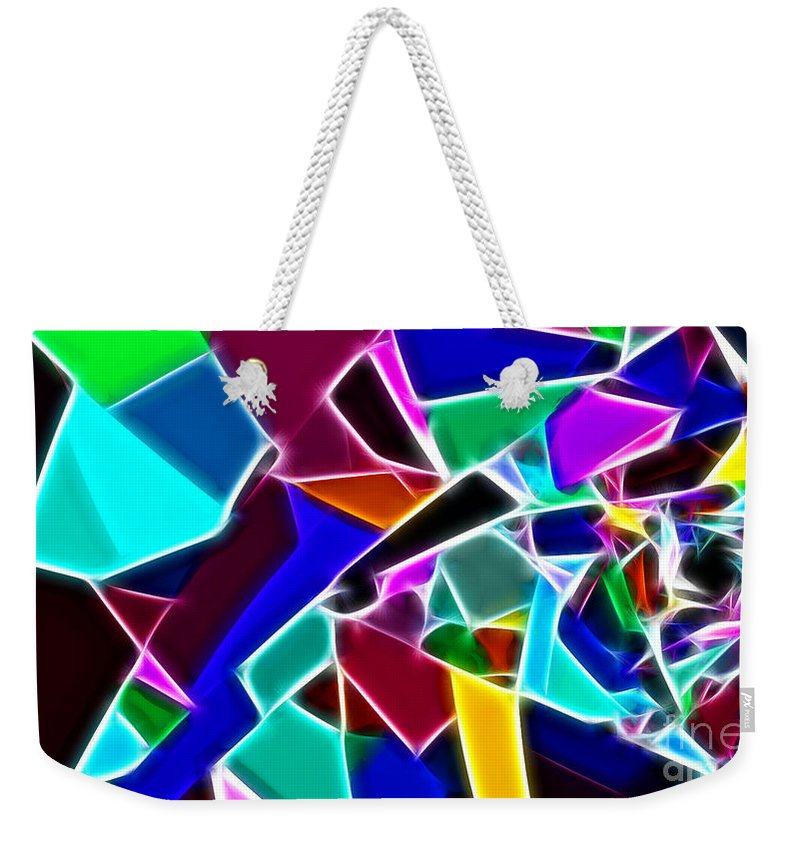 Jewelled Weekender Tote Bag featuring the painting Jewelled by Methune Hively