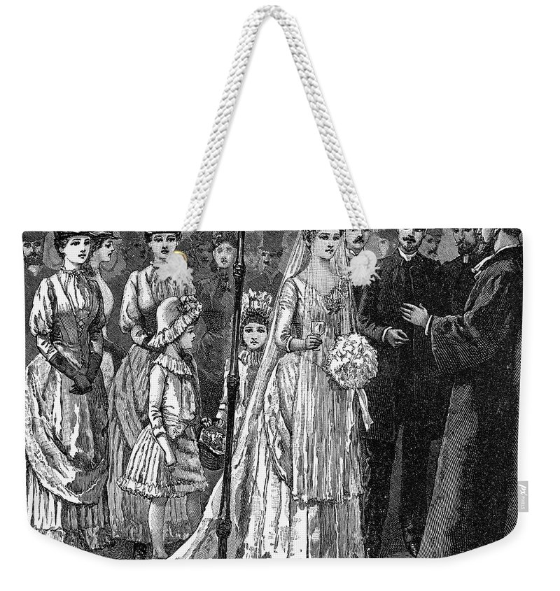 1892 Weekender Tote Bag featuring the photograph Jewish Wedding, C1892 by Granger