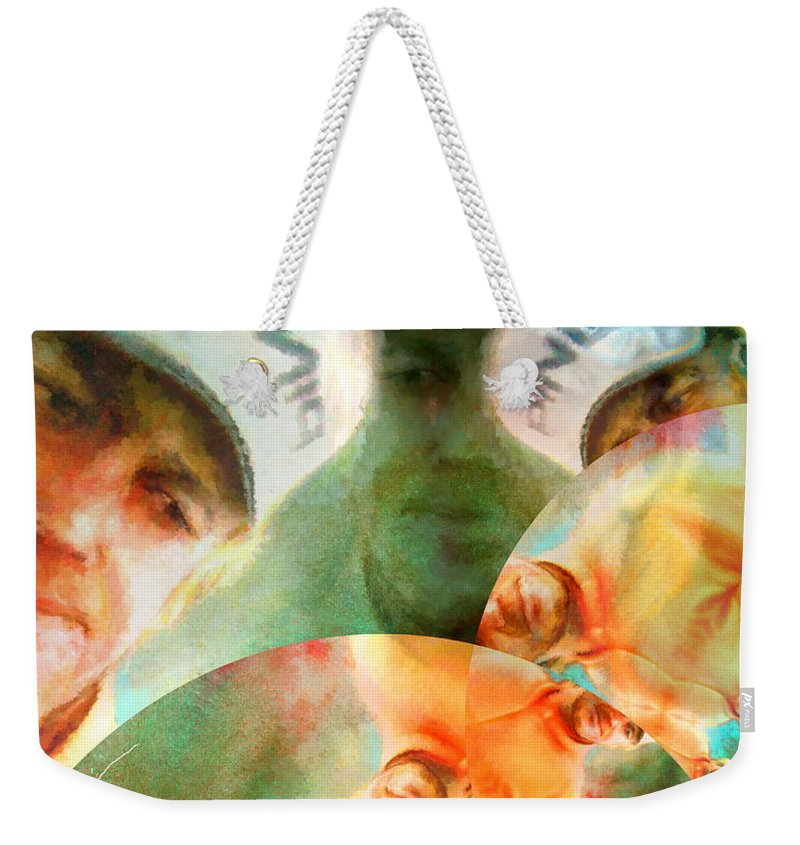 Golf Weekender Tote Bag featuring the painting Jimenez Mania by Miki De Goodaboom