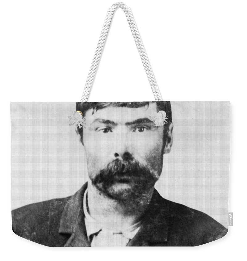 1900 Weekender Tote Bag featuring the photograph Joe Chancellor, C1900 by Granger