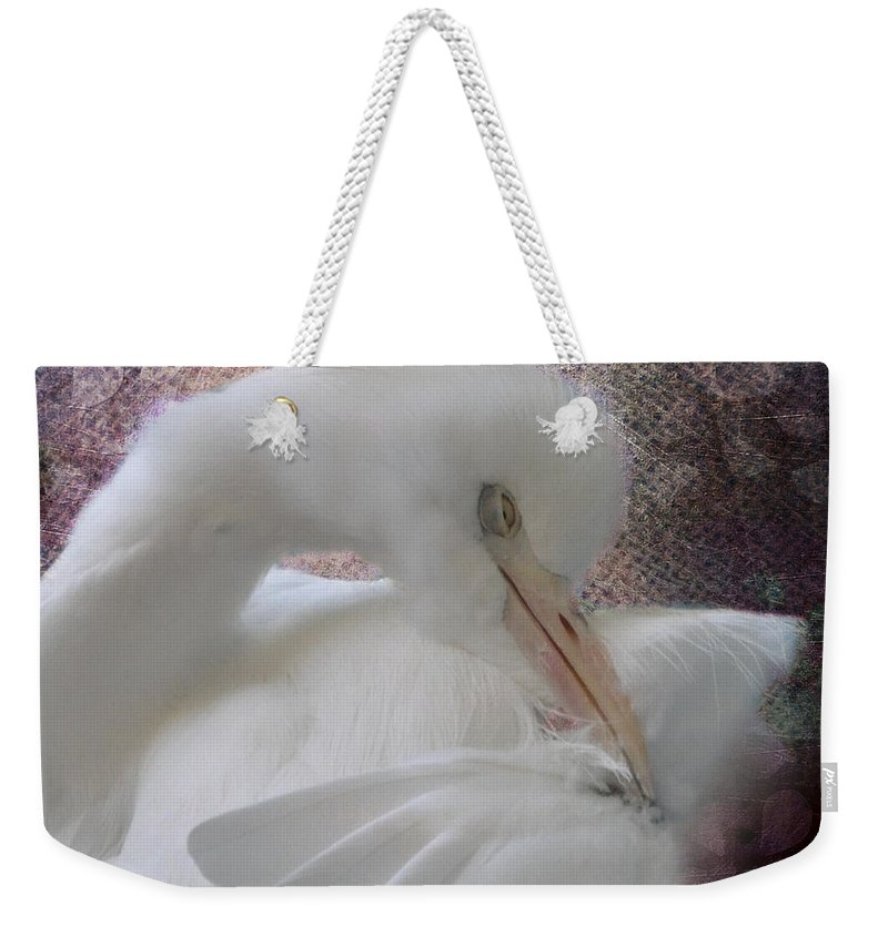 Bird Weekender Tote Bag featuring the photograph Joelle's Egret by Trish Tritz