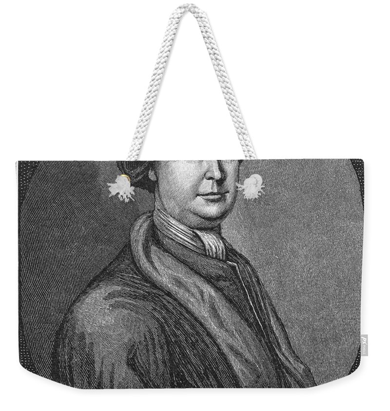 18th Century Weekender Tote Bag featuring the photograph John Lovell (1710-1778) by Granger
