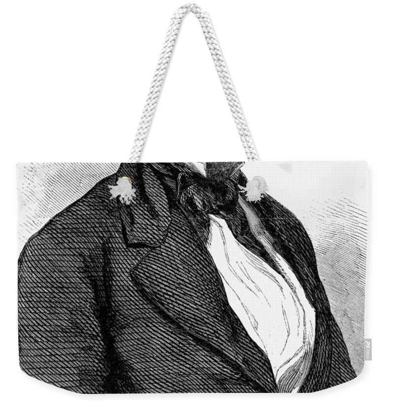 19th Century Weekender Tote Bag featuring the photograph John Van Buren (1810-1866) by Granger
