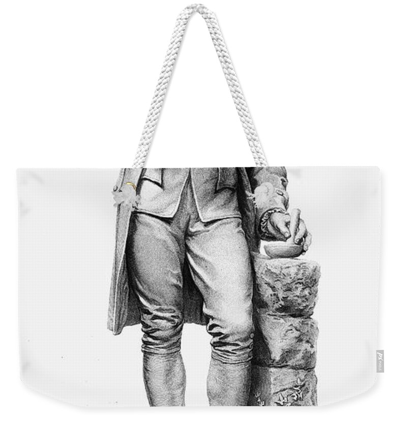 18th Century Weekender Tote Bag featuring the photograph Joseph Priestley (1733-1804) by Granger