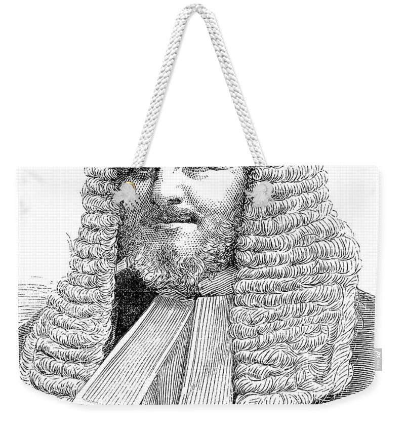19th Century Weekender Tote Bag featuring the photograph Judah Philip Benjamin by Granger