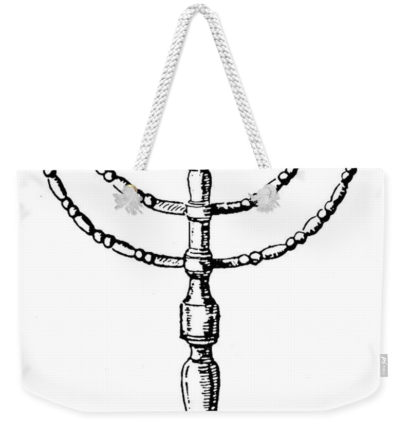 20th Century Weekender Tote Bag featuring the photograph Judaism: Menorah by Granger