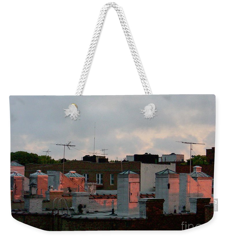 Sunset Weekender Tote Bag featuring the photograph July 26 2007 by Mark Gilman