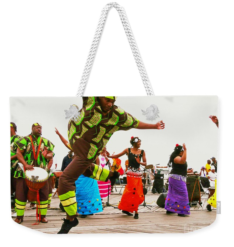 Sister Weekender Tote Bag featuring the photograph Jump Up by Kendall Eutemey