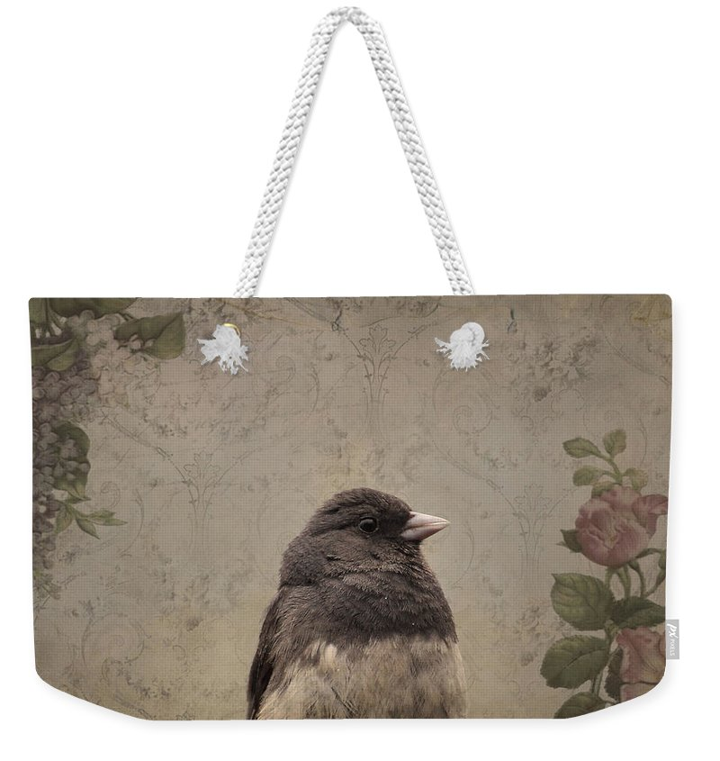 Bird Weekender Tote Bag featuring the photograph Junco by Todd Hostetter