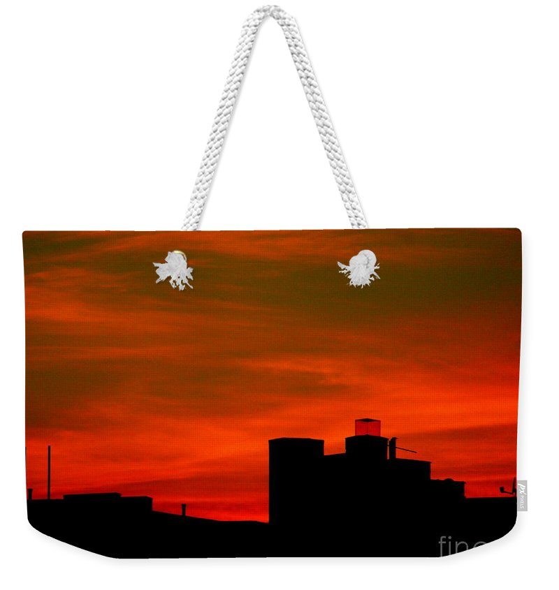 Sunset Weekender Tote Bag featuring the photograph June 2 2009 by Mark Gilman
