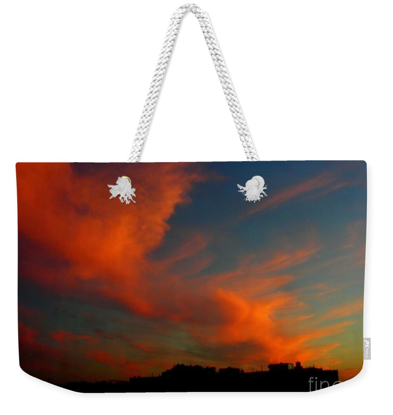 Sunset Weekender Tote Bag featuring the photograph June 29 2010 by Mark Gilman