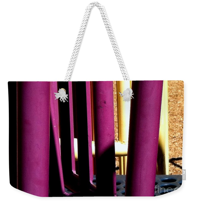 Jungle Gyms Weekender Tote Bag featuring the photograph Jungle Gym 12 by Marlene Burns