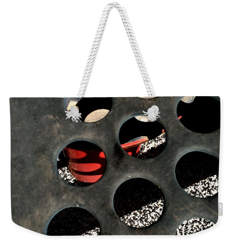 Jungle Gyms Weekender Tote Bag featuring the photograph Jungle Gym 4 by Marlene Burns
