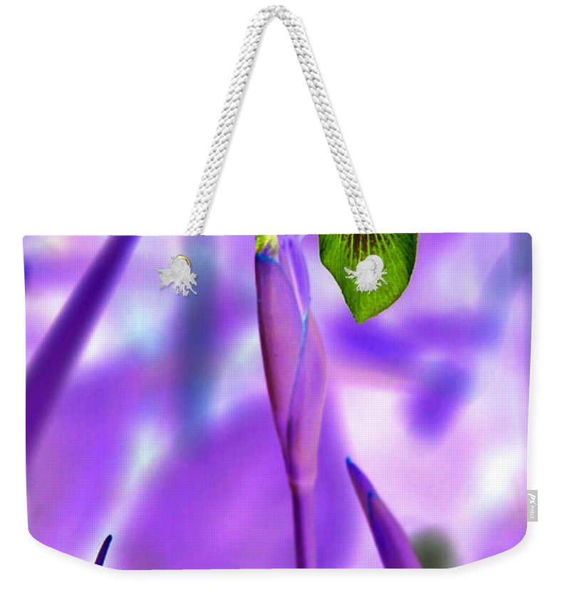 Iris Weekender Tote Bag featuring the photograph Jungle Iris by Carolyn Stagger Cokley