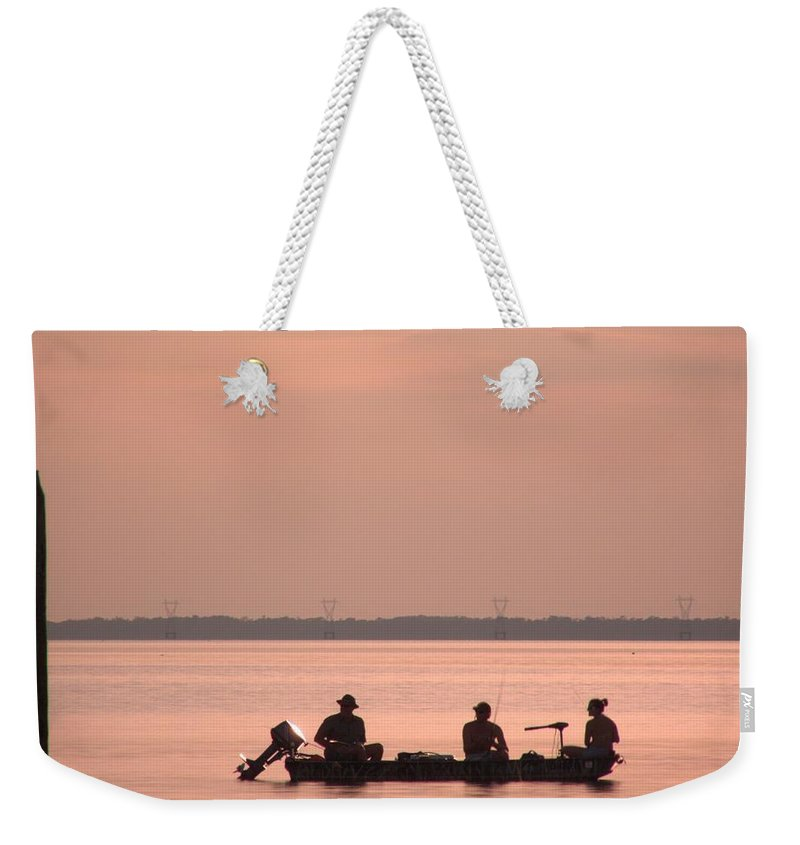 Boating Weekender Tote Bag featuring the photograph Just Fishing by Anthony Walker Sr