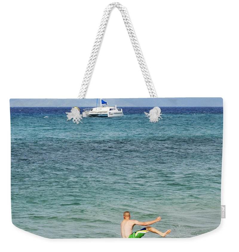 Fooling Weekender Tote Bag featuring the photograph Just Foolin' Around by Marilyn Hunt