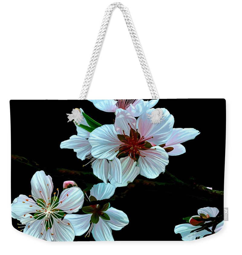 Fine Art Weekender Tote Bag featuring the painting Just Peachy by Patricia Griffin Brett