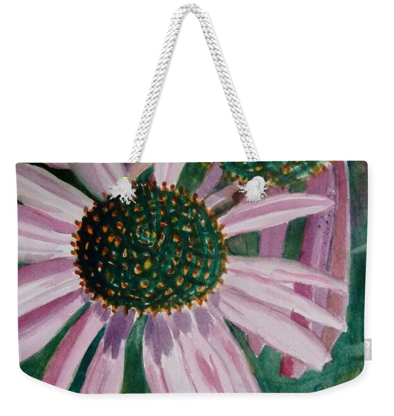 Flowers In Art Weekender Tote Bag featuring the painting Just The Two Of Us by Diane Elgin
