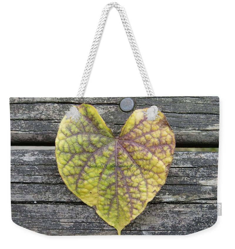 Heart Weekender Tote Bag featuring the photograph Kardia by Sonali Gangane